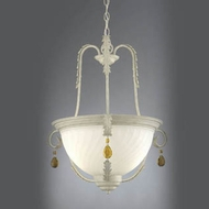 Hi-Lite Manufacturing H-2999-D-66 Brentwood Navajo White Finish 21  Wide Lighting Pendant