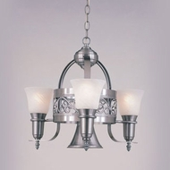 Hi-Lite Manufacturing H-3Y-D-11-MAR Odysee Satin Steel Finish 22  Tall Mini Chandelier Lamp