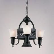 Hi-Lite Manufacturing H-3Y-D-BK01-MAR Odysee Black Texture Finish 22  Tall Mini Ceiling Chandelier