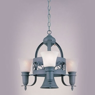 Hi-Lite Manufacturing H-3Y-D-GN20-MAR Odysee Powder Coat Patina Finish 22  Tall Mini Chandelier Light