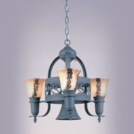Hi-Lite Manufacturing H-3Y-D-GN20-WHT-ODY Odysee Powder Coat Patina Finish 22  Wide Mini Chandelier Lighting