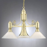 Hi-Lite Manufacturing H-5223-D-OP Cased 19  Tall Chandelier Lamp