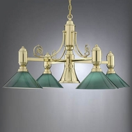 Hi-Lite Manufacturing H-5224-D-GRN Cased 38  Wide Chandelier Light