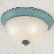 Hi-Lite Manufacturing H-6330-F-33 Patina Finish 12  Wide Flush Mount Lighting