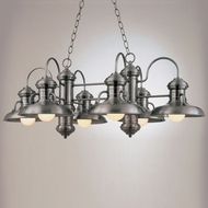 Hi-Lite Manufacturing H-7136-D Malibu Nautical 16  Tall Lighting Chandelier