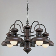 Hi-Lite Manufacturing H-7165-D Malibu Nautical 25  Wide Ceiling Chandelier
