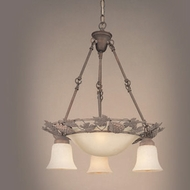 Hi-Lite Manufacturing H-8073-D Oakridge 24  Wide Mini Hanging Chandelier