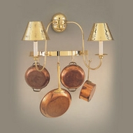 Hi-Lite Manufacturing H-8134-B 22  Wide Pot Rack Wall Sconce Lighting
