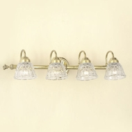Hi-Lite Manufacturing H-8264-B Traditional 29  Wide 4-Light Bathroom Vanity Light Fixture