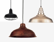 Hi-Lite Manufacturing RLM Warehouse Shade Exterior Pendant Lighting