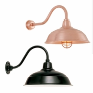 Hi-Lite Manufacturing RLM Warehouse Shade Outdoor Wall Sconce