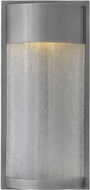 Hinkley 1344HE Shelter Contemporary Hematite LED Outdoor Wall Mounted Lamp