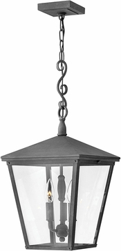 Hinkley 1432DZ-LL Trellis Aged Zinc LED Outdoor Hanging Pendant Light