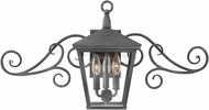 Hinkley 1433DZ-LL Trellis Aged Zinc LED Outdoor Wall Sconce Lighting