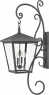 Hinkley 1439DZ Trellis Aged Zinc Exterior Sconce Lighting