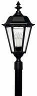 Hinkley 1471BK Manor House Black Exterior Pole Lighting Fixture