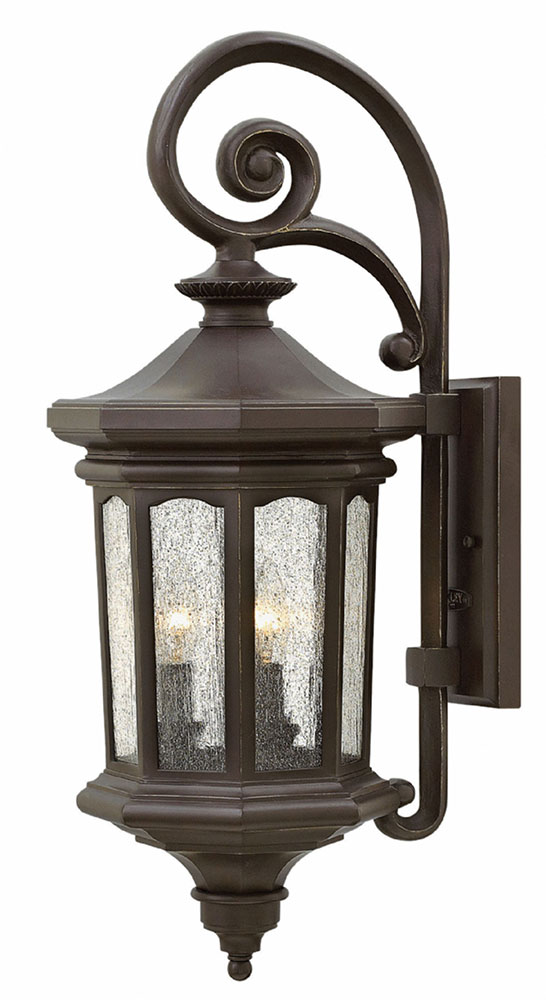 Outdoor Wall Lights Woodies : Hinkley 1604OZ Raley Traditional Oil Rubbed Bronze Exterior Wall Sconce Lighting - HIN-1604OZ