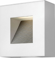 Hinkley 1647SW-LED Luna Contemporary Satin White LED Exterior Wall Lighting