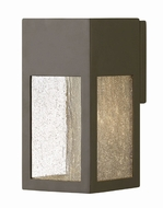 Hinkley 1780BZ Rook Modern Bronze Halogen Outdoor Small Wall Lamp