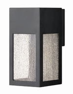 Hinkley 1780SK Rook Modern Satin Black Halogen Outdoor Small Sconce Lighting