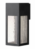 Hinkley 1784SK Rook Modern Satin Black Halogen Outdoor Medium Lighting Wall Sconce