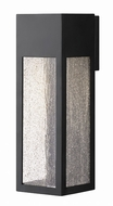 Hinkley 1785SK Rook Modern Satin Black Halogen Outdoor Large Wall Light Sconce