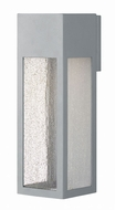 Hinkley 1785TT-LL Rook Contemporary Titanium LED Exterior Large Wall Lamp