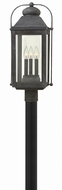 Hinkley 1851DZ Anchorage Traditional Aged Zinc Exterior Lighting Post Light