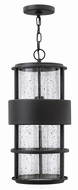 Hinkley 1902SK Saturn Modern Satin Black Outdoor Hanging Light