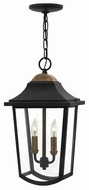 Hinkley 1972BK Burton Black Exterior Pendant Lighting Fixture