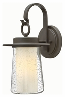 Hinkley 2010OZ Riley Traditional Oil Rubbed Bronze Finish 9  Wide Outdoor Lamp Sconce