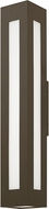Hinkley 2198BZ Dorian Contemporary Bronze LED Outdoor Wall Sconce Light
