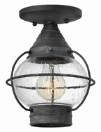 Hinkley 2203DZ Cape Cod Nautical Aged Zinc Exterior Ceiling Light