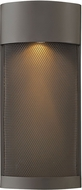 Hinkley 2307KZ Aria Contemporary Buckeye Bronze Halogen Exterior Wall Sconce Lighting