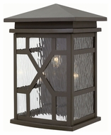 Hinkley 2435OZ Clayton Traditional Oil Rubbed Bronze Finish 11 Wide Outdoor Wall Light Sconce