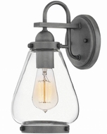 Hinkley 2510DZ Finley Modern Aged Zinc Exterior Small Wall Sconce Lighting