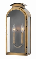 Hinkley 2524LS Rowley Light Antique Brass Outdoor Medium Wall Lamp