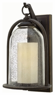 Hinkley 2615OZ Quincy Traditional Oil Rubbed Bronze Finish 9.25 Wide Outdoor Wall Light Sconce