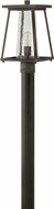 Hinkley 2791OZ-CL Burke Contemporary Oil Rubbed Bronze Exterior Post Light Fixture