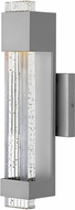 Hinkley 2830TT Glacier Contemporary Titanium LED Exterior Small Wall Lighting Sconce