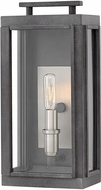 Hinkley 2910DZ-LL Sutcliffe Contemporary Aged Zinc LED Exterior Small Wall Light Fixture