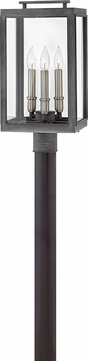 Hinkley 2911DZ-LL Sutcliffe Contemporary Aged Zinc LED Exterior Lamp Post Light