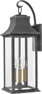 Hinkley 2935DZ Adair Aged Zinc Outdoor Large Wall Sconce Light