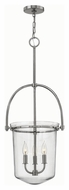 Hinkley 3033PN Clancy Polished Nickel Finish 15.5  Wide Foyer Pendant Light