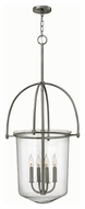 Hinkley 3034BN Clancy Brushed Nickel Finish 43.5  Tall Foyer Lighting Pendant