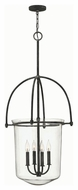 Hinkley 3034DZ Clancy Aged Zinc Finish 19.25  Wide Foyer Pendant Lamp