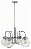 Hinkley 3044CM Congress Chrome Finish 16.25  Tall Ceiling Chandelier