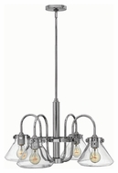 Hinkley 3046CM Congress Chrome Finish 14.25  Tall Hanging Chandelier