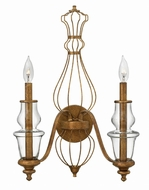 Hinkley 3082GF Celine Traditional Antique Gold Leaf Wall Lighting