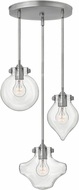 Hinkley 3198AN Congress Contemporary Antique Nickel Multi Pendant Light